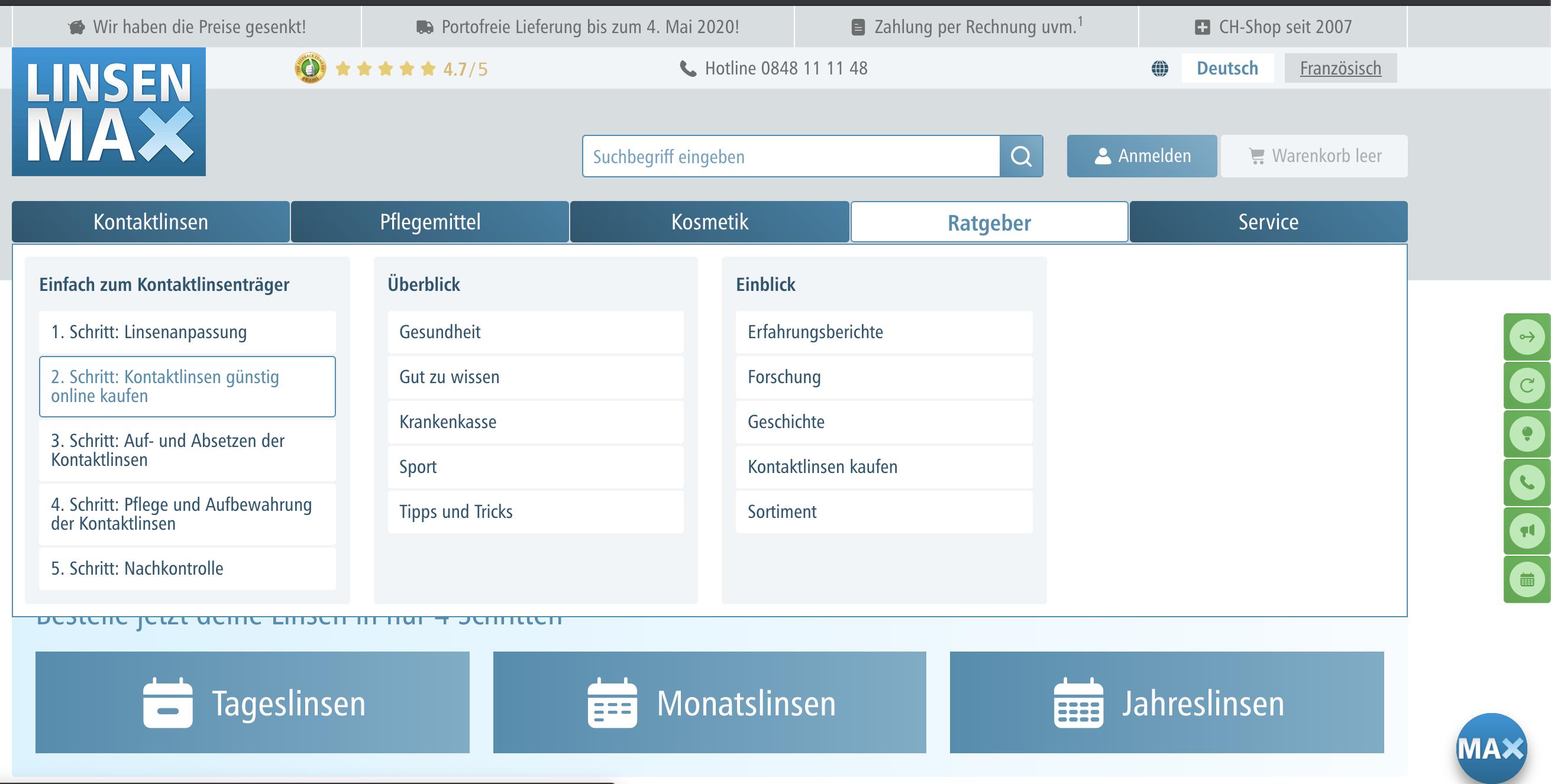 Design, Web-Programmierung und Web-Hosting Linsenmax