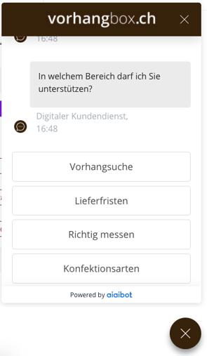 Chatbot von Vorhangbox