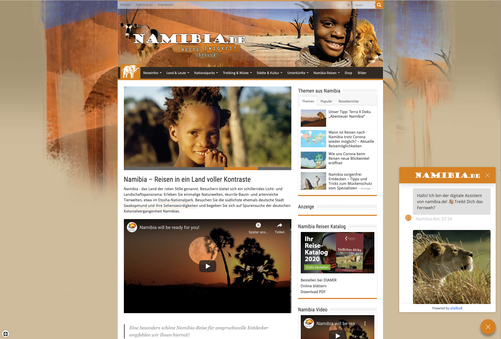 Namibia Page
